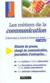 Les metiers de la communication ; 2e edition - Intérieur - Format classique