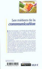 Les metiers de la communication ; 2e edition - 4ème de couverture - Format classique