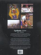 Cyclisme 2004 - 4ème de couverture - Format classique