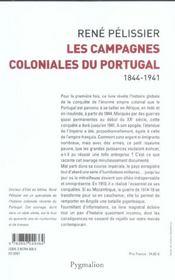 Campagnes colon portugal - 4ème de couverture - Format classique