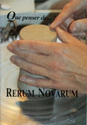 Rerum Novarum - Couverture - Format classique
