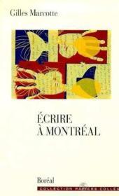 Ecrire A Montreal - Couverture - Format classique