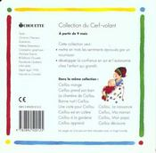 Caillou ; La Naissance - 4ème de couverture - Format classique