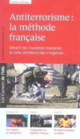 Les carnets de l'info t.6 ; antiterrorisme : la méthode française - Couverture - Format classique