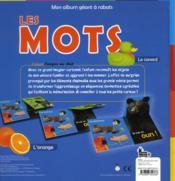 Mon Album Geant A Rabats ; Les Mots - 4ème de couverture - Format classique
