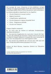 L'Essentiel De L'Electrocinetique Cours Exercices Et Problemes Corriges Prepas Mpsi Pcsi Ptsi - 4ème de couverture - Format classique