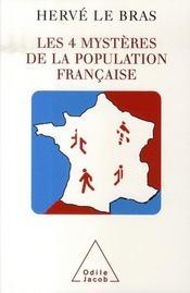Les quatres mystères de la population française - Intérieur - Format classique