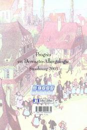 Progres En Dermato-Allergologie - 4ème de couverture - Format classique