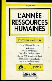 L'Annee Ressources Humaines 1995 Synthese Annuelle - Couverture - Format classique