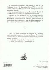 Memoires Duguay-Trouin - 4ème de couverture - Format classique