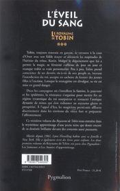 Le royaume de tobin t3 l'eveil du sang - 4ème de couverture - Format classique