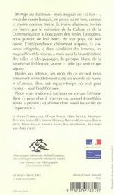 Les Belles Etrangeres ; 13 Ecrivains Algeriens - 4ème de couverture - Format classique