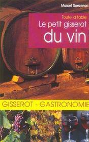 Le petit Gisserot du vin - Intérieur - Format classique