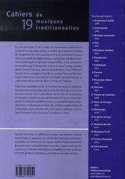 Cahiers de musiques traditionnelles t.19 ; chamanisme et possession - 4ème de couverture - Format classique