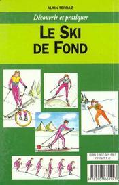 Le ski de fond - 4ème de couverture - Format classique