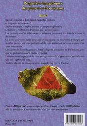 Propriétés énergétiques des pierres et des cristaux t.1 - 4ème de couverture - Format classique