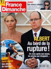 France Dimanche N°3392 du 02/09/2011 - Couverture - Format classique