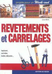 Revetements Et Carrelages - Intérieur - Format classique