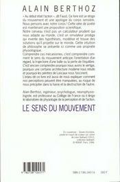Le Sens Du Mouvement - 4ème de couverture - Format classique