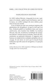 Navigateur En Solitaire (Ne) Babel 140 - 4ème de couverture - Format classique