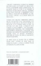 Du Bruit Sous Le Silence - 4ème de couverture - Format classique