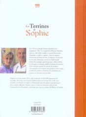 Les terrines de Sophie - 4ème de couverture - Format classique