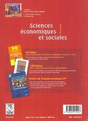 Sciences economiques et sociales 2e - 4ème de couverture - Format classique