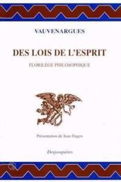 Lois De L'Esprit (des) - Couverture - Format classique