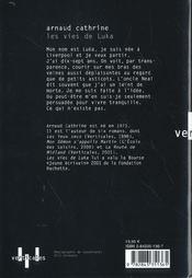 Les Vies De Luka - 4ème de couverture - Format classique
