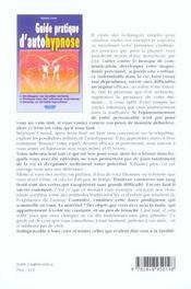 Guide pratique d'autohypnose - 4ème de couverture - Format classique