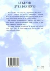 Le grand livre des reves - 4ème de couverture - Format classique