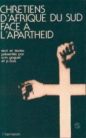 Chrétiens d'Afrique du Sud face à l'apartheid - Couverture - Format classique