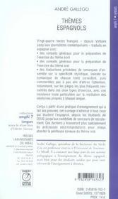 Themes Espagnols - 4ème de couverture - Format classique