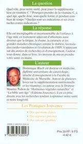 Vitamine C - 4ème de couverture - Format classique