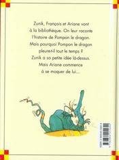 Zunik ; le dragon - 4ème de couverture - Format classique