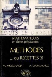 Methodes Ou Recettes Cours - Couverture - Format classique