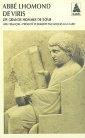 De viris illustribus urbis romae ; les grands hommes de Rome - Couverture - Format classique
