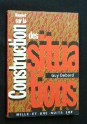 Rapport Sur La Construction Des Situations - Couverture - Format classique