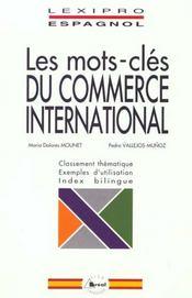 Les mots-cles du commerce international / esapgnol - Intérieur - Format classique