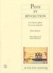 Peste Et Revolution - La Colonne Infame - Un Ver Au Ministere - Couverture - Format classique