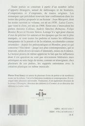 Poésie espagnole contemporaine t.3 - 4ème de couverture - Format classique