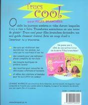Trucs Cool Pour Filles Branchees - 4ème de couverture - Format classique