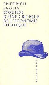Esquisse d'une critique de l'économie politique - Couverture - Format classique