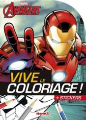 Vente livre :  VIVE LE COLORIAGE ; Avengers ; Iron Man  - Collectif - Stephanie Sojic