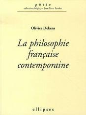 La philosophie française contemporaine - Intérieur - Format classique