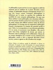 La philosophie française contemporaine - 4ème de couverture - Format classique