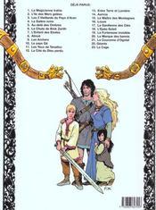 Thorgal T.14 ; Aaricia - 4ème de couverture - Format classique
