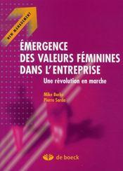 Émergence des valeurs féminines dans l'entreprise ; une révolution en marche - Intérieur - Format classique