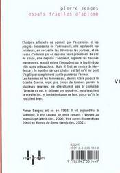 Essais Fragiles D'Aplomb - 4ème de couverture - Format classique