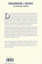 Reincarnation Et Biologie ; La Croisee Des Chemins - 4ème de couverture - Format classique